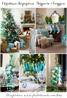 christmas inspiration turquoise and evergreen | Frosted Events