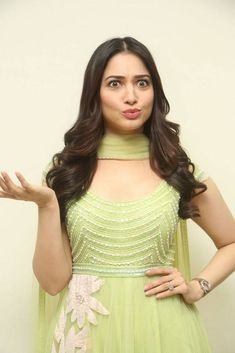Tamil Actress Tamanna In Green Dress At Sketch Movie Press Meet South Indian Actress, Beautiful Indian Actress, Beautiful Actresses, South Actress, Hot Actresses, Indian Actresses, Tamanna Hot Images, Indian Designer Wear, Bollywood Actress