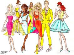 A fan created collage of my Barbie BFMC S/S designs. ♥ | Flickr
