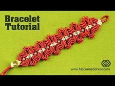 Macramé Diamond Flower Bracelet Tutorial - YouTube