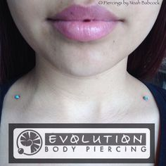 Healed one year old #singlepointpiercing 's with #titanium jewelry by #anatometal  (at Evolution Piercing)