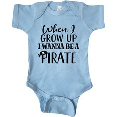 Pirate Future Childs Infant Creeper Light Blue $16.99 www.homewiseshopperkids.com