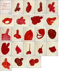 Louise Bourgeois, Lullaby, 2006, suite of 21 ink & pencil on music paper drawings.