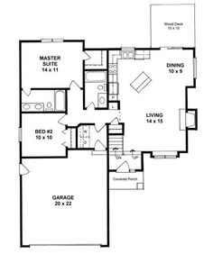 Plan No.350890 House Plans by WestHomePlanners.com