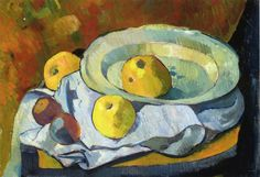 "artist-serusier: ""Plate of Apples by Paul Serusier Size: 36.5x53.5 cm Medium: oil on canvas"""