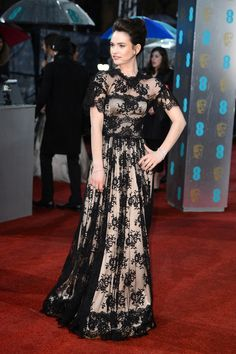 Fashion At The 2013 BAFTA Awards Lily James