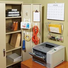 Save The Office Supply Closet From Disorganization And Cluttered Messes By Hanging Items Up With Command