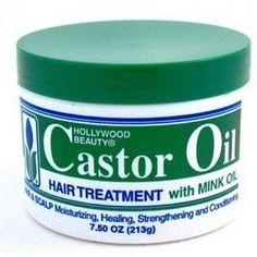5$ Hollywood Beauty Castor Oil Hair Treatment 7.5oz #SkinCareSecretsTips #TeaTreeOilForAcne