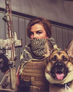 Gun Gal and her K9