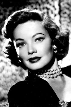 Gene Tierney. - Love this whole look and era.