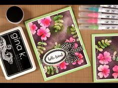 Embossing over watercolor - Stamp TV Card Making Tutorials, Card Making Techniques, Making Ideas, Embossing Techniques, Stamp Tv, Making Greeting Cards, Colouring Techniques, Mini Scrapbook Albums, Watercolor Cards