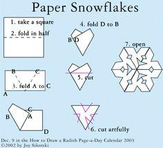 How to make a snowflake / Kağıttan kar tanesi nasıl yapılır