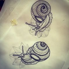 Morning #fat #snails #tattoo #sketch