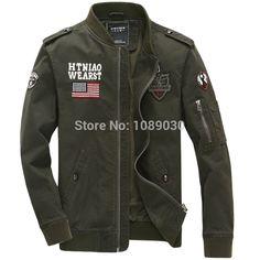 Recién Llegado de Ee.uu. Ejército Hombres Uniforme Militar Chaqueta de Bombardero de la Fuerza Aérea militare Chaquetas de Los Hombres los hombres 2015 jaquetas Chaquetas militares(China (Mainland))