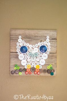 Hey, I found this really awesome Etsy listing at https://www.etsy.com/listing/184102228/button-white-owl-nature-rustic-reclaimed