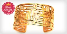 24K Gold-Plated Element Cuff Bracelet