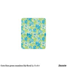 Cute blue green seamless lily floral card holder Bus Pass, Floral Card, Card Wallet, Hand Sewing, Blue Green, Two By Two, Art Pieces, Card Holder, Lily