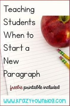 Teach your students when to start a new paragraph using an easy to remember rhyme.