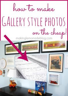 Love large gallery photos but hate the huge pricetag? Here's how to make large faux canvas style photos on the cheap-- I'm talking under $10! #gallerywall #photography #homedecor via www.makinglemonadeblog.com