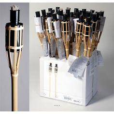 Torche Bambou H 60 cm