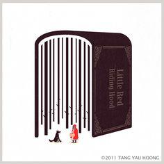 Uma seleção das simpáticas ilustrações de Tang Yau Hoong usando o espaço negativo.