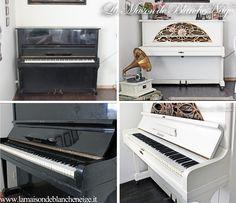 Shabby chic upright piano renovation Restauro Pianoforte a parete in stile shabby chic