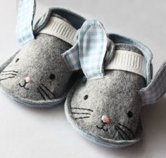 Handmade Bunny Crib Shoes