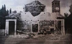 Descrizione: Basilica di San Lorenzo fuori le mura dopo i bombardamenti del 19 luglio 1943 Anno: 1943