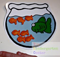 Fish Bowl Printables {FREE}:  Great to Use for Math Activities with Goldfish Crackers