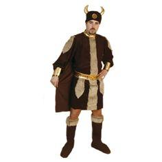 DisfracesMimo, disfraz de vikingo guerreros hombre adulto bt 69105.El disfraz tiene tiras de pelo por el traje y el cinturón, al igual que en la parte superior de los cubrebotas, lo que le da mayor realismo a este bárbaro de guerrero nórdico. .Este disfraz es ideal para tus fiestas temáticas de disfraces de guerreros y arabes para hombre adultos.