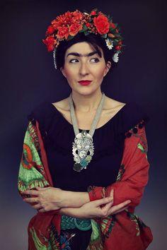 Aztec Frida Ethnic Silver Necklace | Frida Kahlo | Silver pendant | Sztuk Kilka | Marta Norenberg | Aztecka Frida - naszyjnik ze srebra inspirowany kulturą Meksyku.