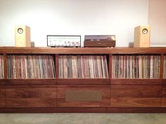 Custom Record/Stereo Cabinet by Trey Jones, via Behance