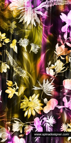 Walter Spina | Estampa Exclusiva Musse | #print #textile #watercolor #floral #pattern #design