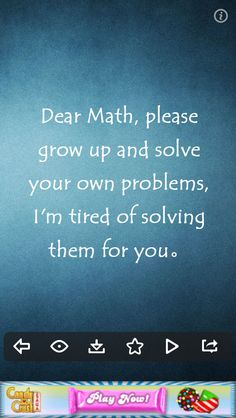 That's how I always feel about math