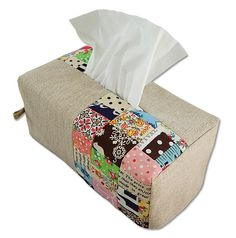 Reversible Tissue Box Cover by ayumills, via Flickr