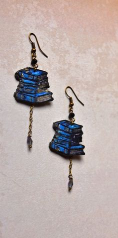 New dreamy item in my shop Reader gift book earrings book art jewelry book lover gift Librarian jewelry Teacher jewelry Promotion gift book geek dangle earrings