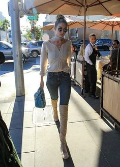 Get Gigi Hadid's perfect winter over-the-knee boots