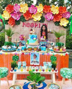 Decoração de aniversário Moana