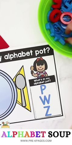Alphabet Soup Early Literacy Activity - Pre-K Pages