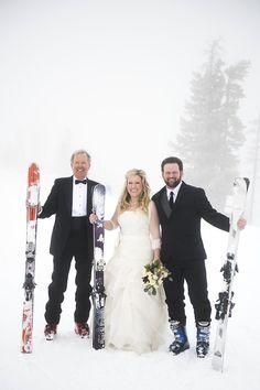 Winter Park, CO Bride, Groom & Brides Dad Photo by Brinton Photography