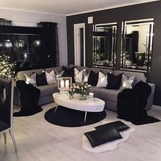 Home Decoration - 80 Stunning Small Living Room Decor Ideas For Your Apartment 06 – DECOOR - Wallpaper Pinme Home Living Room, Apartment Living, Interior Design Living Room, Living Room Designs, Living Room Themes, Living Room Goals, Cozy Apartment, Cheap Apartment, Gray Interior