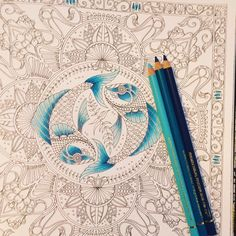 WIP- from Johanna Basfords lost ocean 😁 Colouring Pages, Adult Coloring Pages, Coloring Books, Coloring Stuff, Johanna Basford Books, Johanna Basford Coloring Book, Blending Colored Pencils, Colored Pencil Techniques, Color Plan