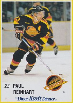 PAUL REINHART KRAFT DINNER 1990 44 VANCOUVER CANUCKS 8b6854e11