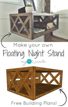 Floating Night Stand Building Plans, and a One Board Challenge! (My Love 2 Create) Floating Night Stand Building Plans, and a One Board Challenge! (My Love 2 Create),Malle Floating Night Stand Building Plans, and a One Board Challen. Diy Nightstand, Home Projects, Diy Furniture, Woodworking Projects Diy, Home Decor, Nightstand Plans, Home Diy, Bedroom Night Stands, Diy Plans