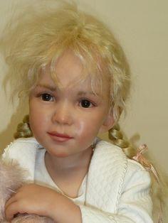 Erin by Sarah Niemala OOAK of Polymer Clay 2002 with Teddy Bear Very Beautiful | eBay