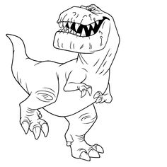 Leuk voor kids kleurplaat ~ Butch de T-Rex