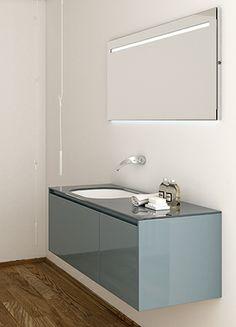 Strato collection by Inbani. Bathroom Collections, Double Vanity, Bathroom Lighting, Mirror, Furniture, Design, Home Decor, Wall Mirror, Bath