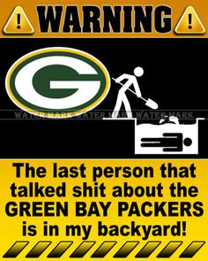 Wall Photo 8x10 Funny Warning Sign NFL Green Bay Packers Football Team 2 | eBay