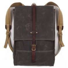 The Rucksack, made from stout closely woven waxed twill by IZOLA