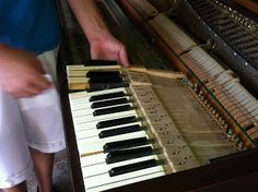 Milo Wilson: How to Gut a Piano (a lifelong dream of mine) Furniture Makeover, Diy Furniture, Antique Furniture, Music Furniture, Furniture Refinishing, Furniture Storage, Vieux Pianos, Types Of Pianos, Piano Crafts
